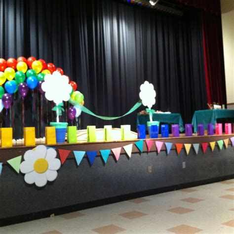 decorated stage  bridging ceremony gs pinterest