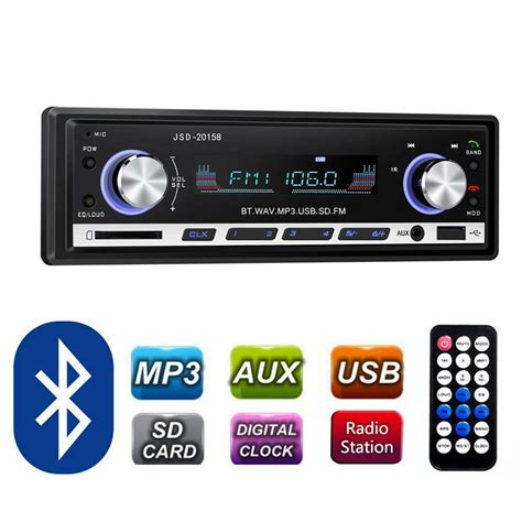 Usb Car Stereo by Pioneer Car Radio Stereo Media Player Bluetooth Aux Usb
