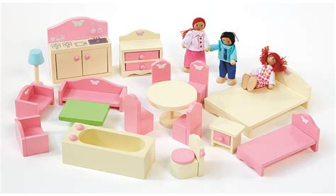george home wooden doll house furniture set kids