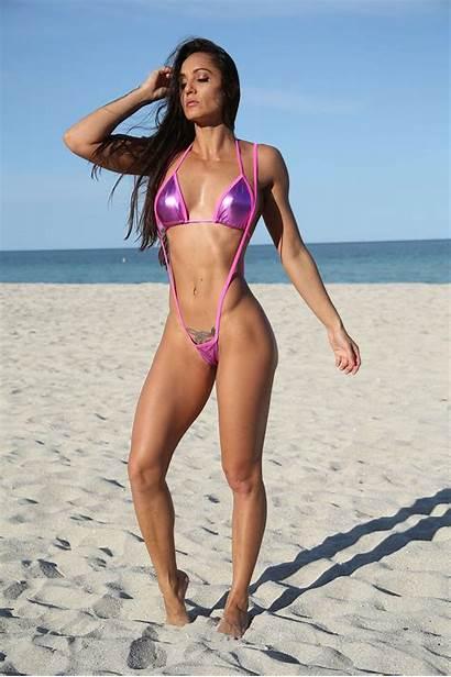 Slingshot Bikinis Bikini Metallic Sling Shot Babes