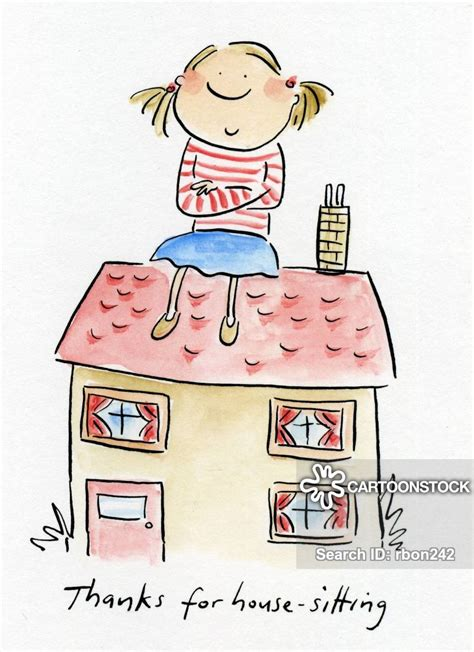 house sitting cartoons  comics funny pictures