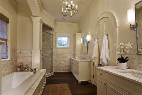 arched french doors traditional bathroom herlong associates