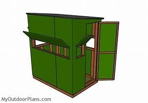 Deer Blind Plans 4x6 MyOutdoorPlans Free Woodworking
