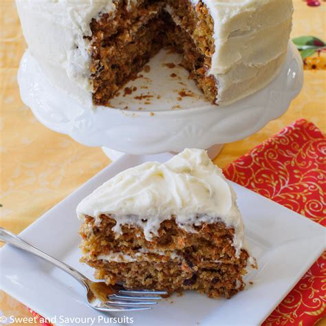 carrot cake  cream cheese frosting sweet  savoury