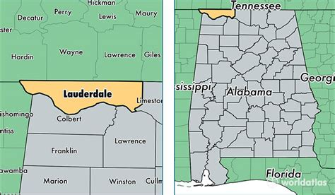 Lauderdale County, Alabama / Map Of Lauderdale County, Al