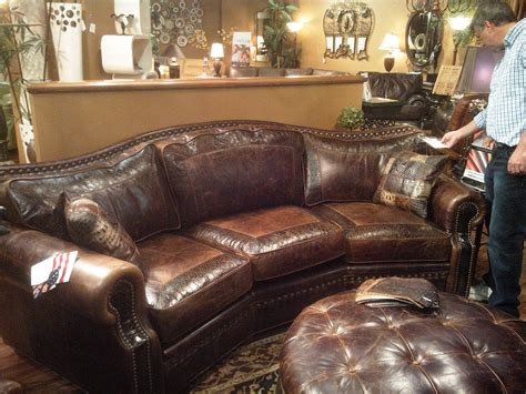 Top Grain Leather Sectional Sofas by Omnia Leather Tucson 3 Seat Conversation Couch Saw It At