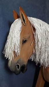 Pferdekopf Aus Holz : holzpferd mit naturgetreuer bemalung von k nstlerhand ~ A.2002-acura-tl-radio.info Haus und Dekorationen