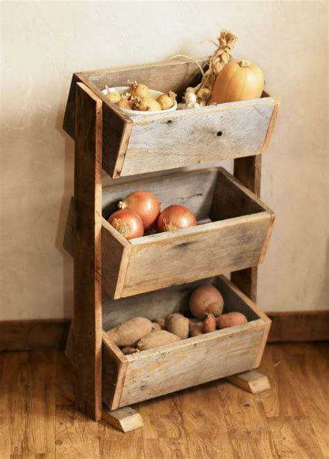 rangement pomme de terre cuisine potato bin vegetable bin scandinavian barn wood
