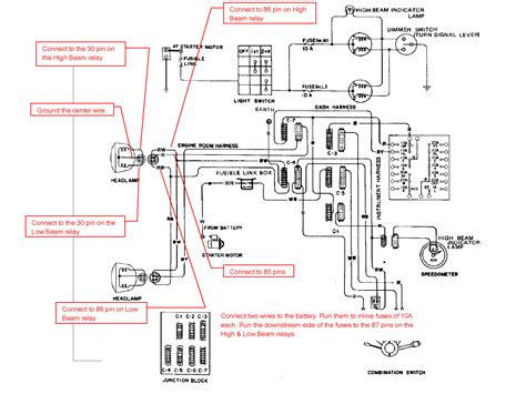 Simple Headlight Relay Wiring by Simple Headlight Wiring Diagram Electrical Website Kanri