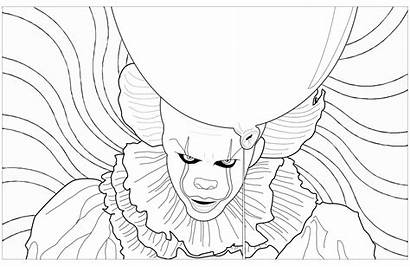 Clown Horror Pennywise Coloring Maleficent Stephen King