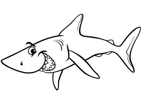 Haai Kleurplaat by Kleurplaat Haai 60 Leuke Kleurplaten Haaien Tijd