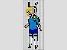 Simple Pixel Art On Grid Adventure Time