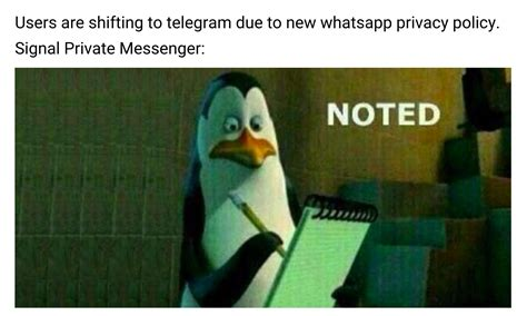 Noted Meme Ft New Whatsapp Privacy Policy