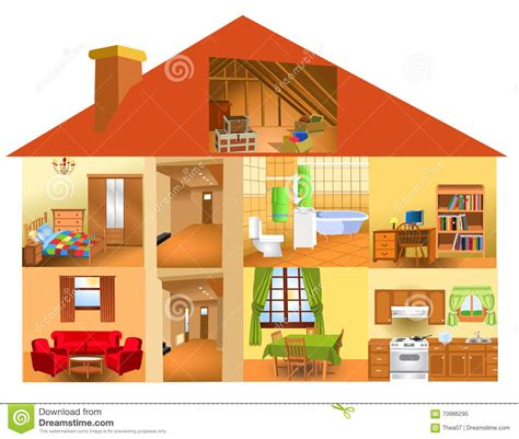 parts of the house stock vector illustration of computer 70986295