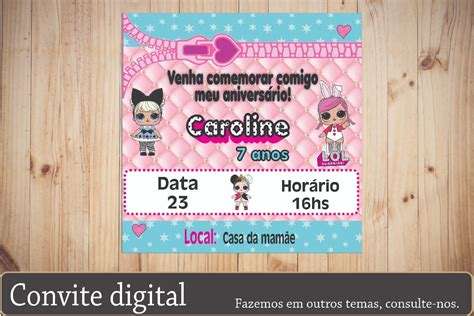 convite digital tema lol surprise envio  mail