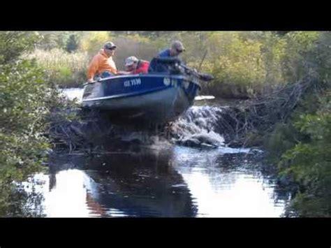 Jet Boat Jumping Beaver Dam fishing boat jumps beaver dam