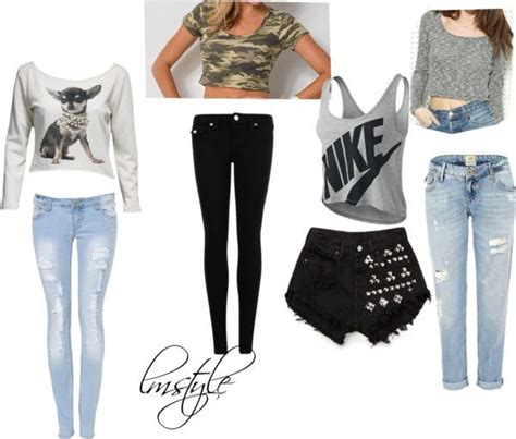 Pics For u0026gt; Polyvore Crop Tops Outfits