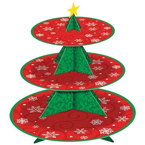 christmas tree cupcake stand wally s party supply store