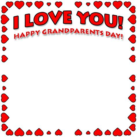 grandparents day borders happy grandparents day