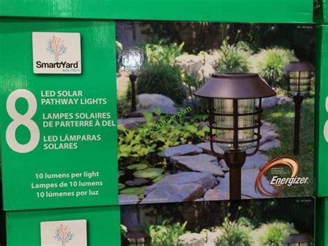 costco 922354 smart yard led solar pathway light box