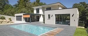 maison a ossature bois contemporaine avec piscine et With lovely maison toit plat en l 0 maison neuve avec piscine toit plat