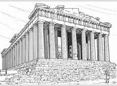 Pantheon Rome Colouring Pages Picolour
