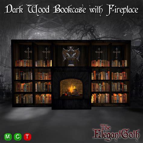life marketplace dark wood bookcase