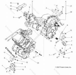 Polaris Side By Side 2008 Oem Parts Diagram For Engine  Transmission Mounting