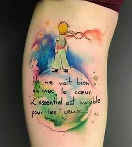 Tatouage Le Petit Prince : on ne voit bien qu 39 avec le coeur l 39 essentiel est ~ Voncanada.com Idées de Décoration