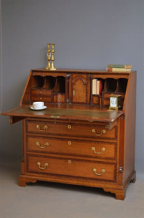 oak writing bureau furniture georgian oak bureau antique writing desk 373703