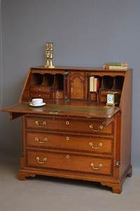 Fine Georgian Oak Bureau Antique Writing Desk 373703