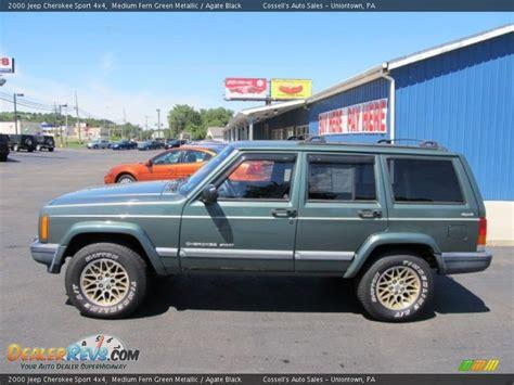 jeep cherokee green 2000 2000 jeep cherokee sport 4x4 medium fern green metallic