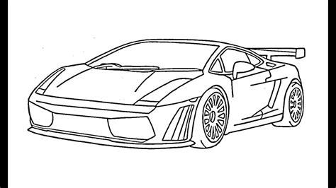 como desenhar uma lamborghini gallardo carro