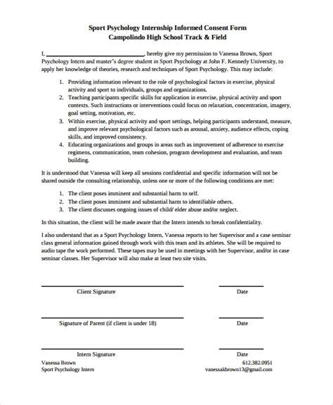 sle psychology consent form 7 free documents