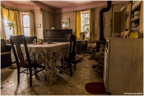 photographing home interiors it looks like a normal abandoned house but wait until you