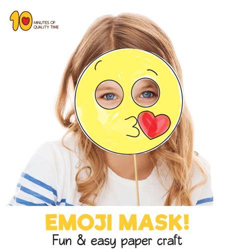 kiss emoji printable mask template  minutes  quality