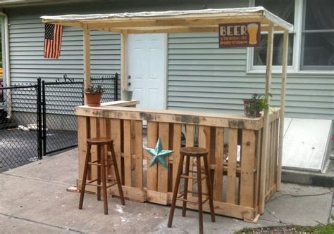 wooden patio bar ideas i made a backyard bar out of pallets landscape