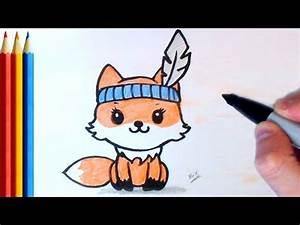 How to Draw Cute Fox (Simple) - Step by Step Tutorial ...