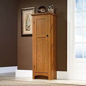 amazon com storage cabinet pantry oak finish free