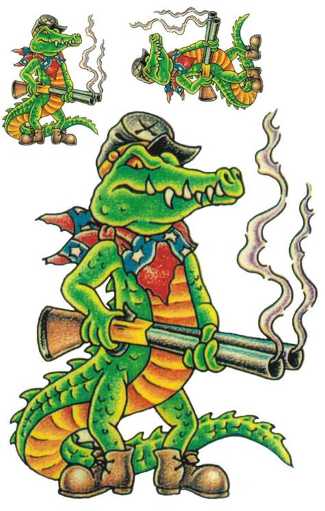 awesome alligator tattoo designs