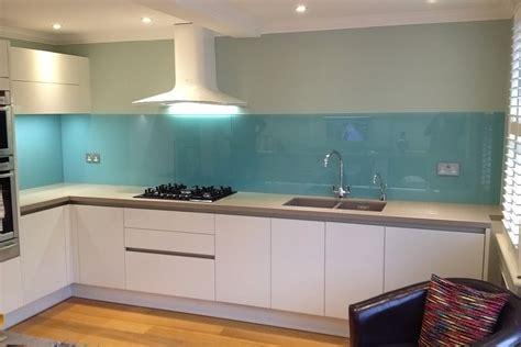 Light Blue Glass Splashback Fitted By Easy Glass