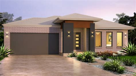 Single Level Home Designs by Facades For Homes Single Story House Designs Colonial Home