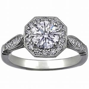 engagement ring octagon victorian halo diamond engagement With octagon wedding ring