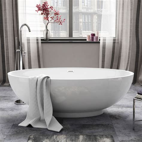 1685mm Luxury Modern Freestanding Bath Acrylic White