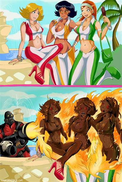Totally Spies Shadbase Comics Funny Animated Games