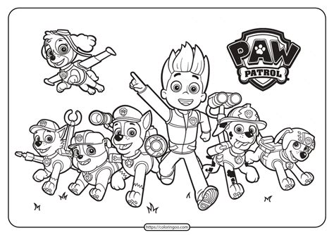 Printable Paw Patrol FriendsColoring Pages