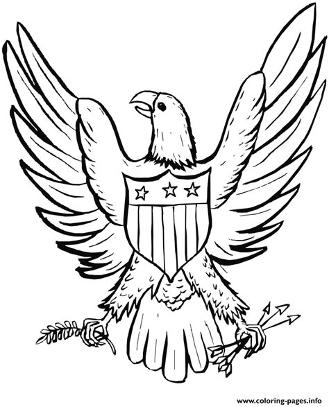 eagle   july usa coloring pages printable