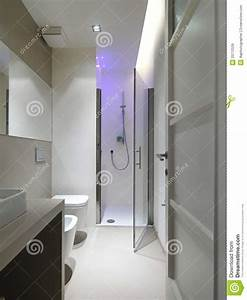 Modern Bathroom With Shower Cubicle Stock Image Image Of