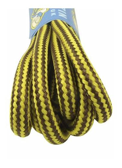 Round Brown Laces Yellow Strong 5mm Wide