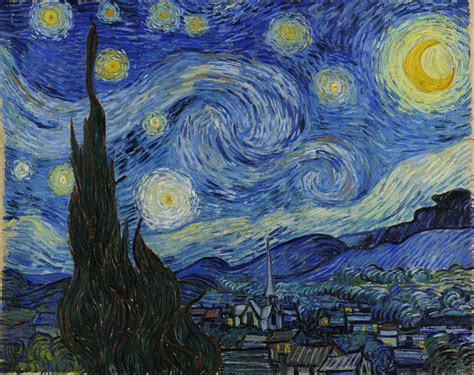 vincent gogh artwork the starry by vincent gogh 1889